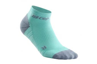 (II, 3.0 - Ice/Grey) - CEP Women's Ankle Compression Running Low Cut Socks for Performance