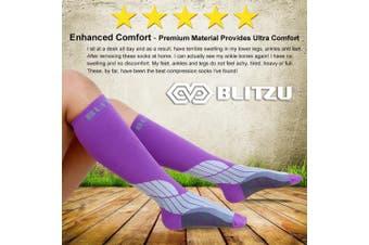 (Large/X-Large, Orchid) - BLITZU Compression Socks 20-30mmHg Men Women Recovery Running Medical Athletic Edoema Diabetic Varicose Veins Travel Pregnancy Relief Shin Splints Nursing