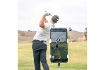 (Green/White) - SelfieGolf Record Golf Swing - Cell Phone Clip Holder and Training Aid - Golf Accessories | Winner of The PGA Best Product | Works with Any Smart Phone, Quick Set Up