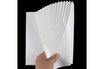 (White) - White Heat Transfer Vinyl for T- Shirts- 16 Sheets,30cm x 25cm Black HTV Iron On Vinyl for Cricut and Silhouette Cameo