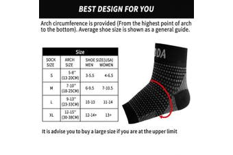 (Large, Black Pair) - AVIDDA Ankle Brace for Men Women Pair Plantar Fasciitis Socks with Arch Support Compression Ankle Support Foot Sleeve for Achilles Tendon Support Swelling Eases Heel Pain Relief
