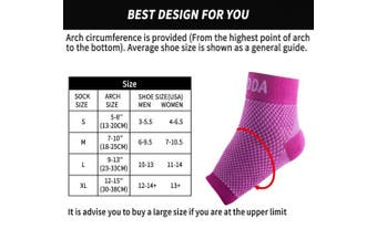 (Medium, Pink Pair) - AVIDDA Ankle Brace for Men Women Pair Plantar Fasciitis Socks with Arch Support Compression Ankle Support Foot Sleeve for Achilles Tendon Support Swelling Eases Heel Pain Relief