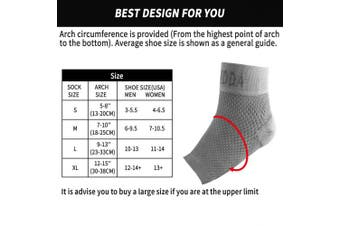 (Large, Gray Pair) - AVIDDA Ankle Brace for Men Women Pair Plantar Fasciitis Socks with Arch Support Compression Ankle Support Foot Sleeve for Achilles Tendon Support Swelling Eases Heel Pain Relief