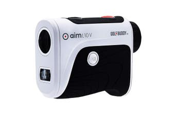 GolfBuddy Aim L10V Golf Talking Laser Rangefinder Black/White