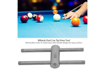 (11mm) - Alomejor Cue Tip Press Stainless Steel Billiards Pool Cue Tip Press Shape Tool for Snooker Maintenance Accessories