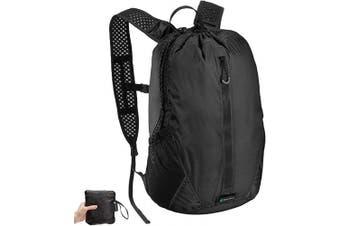 (18 Litre Backpack, Black 2.0 BackPack) - Skog Å Kust LiteSåk 2.0 Waterproof Ultralight Dry Bags & Backpacks