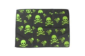 (Lime Green Skulls) - bowlingball.com Microfiber Bowling Towel
