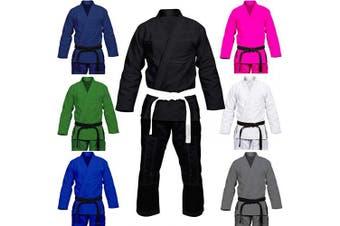 (A0, Grey/White) - Max5 Full Blank Brazilian Jiu Jitsu Gi MMA Martial Arts Uniform BJJ Gi Grappling Kimono