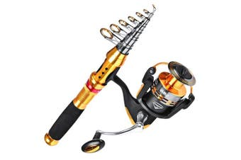 (VC350 Reel+2.4M/7.9FT Rod, Fishing Rod Reel Combo) - C0mdaba Fishing Rod and Reel Combos Full Kit Telescopic Fishing Pole with Spinning Reels Fishing Carrier Bag for Travel Saltwater Freshwater Fishing Gear Set