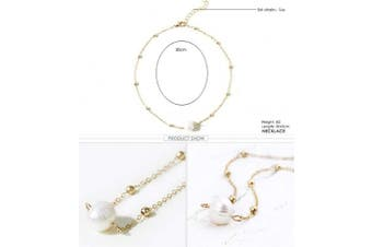 (Gold) - Anglacesmade Bohemia Choker Necklace Pearl Choker Pearl Pendant Necklace Dainty Station Chain Bohemia Jewellery for Women and Girls(Gold)