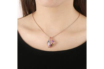 (Pink 5) - Angelady Pink Heart Pendant Necklaces for Women Crystal from , Womens Necklace with Cubic Zircon Diamonds Valentine's Day for Daughter Mum Wife Girlfriend