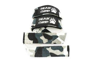 (Camo) - BEAR GRIP - Premium Dual Ply Lifting Straps, Elite Edition