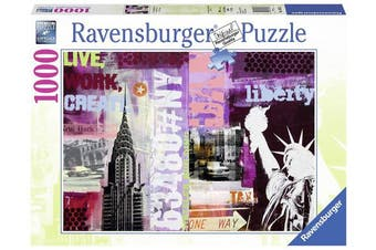 Ravensburger 19613 13cm Style Collage New York City Puzzle (1000-Piece)