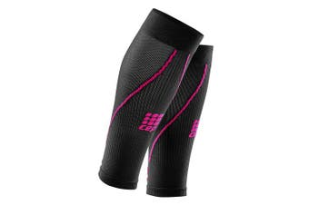 (IV, Black/Pink) - Women's Calf Compression Sleeves - CEP Running Calf Sleeves 2.0 for Performance