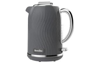 Breville VKT092 Flow Electric Kettle, 3 KW Fast Boil, 1.7 Litres, Grey
