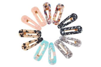 12 Pieces Acrylic Resin Hair Clips Geometric Alligator Hair Clips Colourful Acrylic Barrettes For Women Girls Hair Accessories