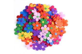 (240) - Coopay 240 Pieces Felt Flowers Fabric Flower Embellishments Assorted Colours for DIY Crafts