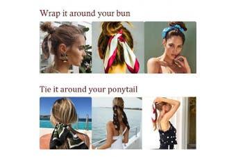 (6PCS, 6-Cloth) - 6Pcs Hair Scrunchies Bowknot Fabric Elastics Hair Bands Scrunchy Hair Rope Ties Hair Bow Ponytail Holder Accessories for Women Girls
