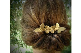 CanB Butterfly Hair Comb Gold Vintage Hair Clip Wedding Headpiece Jewellery for Bride