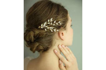 Anglacesmade Bridal Hair Comb Rhinestone Wedding Hair Crown Crystal Hair Pin Bridal Hair Accessories Prom Party Wedding Festival Jewellery for Women and Gilrs