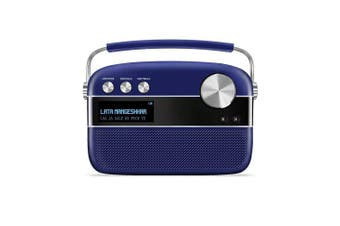 (Royal Blue (With App)) - Saregama Carvaan Premium Portable Digital Music Player (Royal Blue)