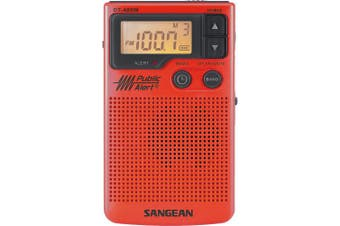 (DT-400WSE (RED) Special Edition) - Sangean DT-400WSE RED AM/FM Digital Weather Alert Pocket Radio (Red) [Special Edition]