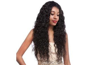 (25cm , Natural Color) - Water Wave Lace Front Wigs Wet and Wavy Lace Front Wigs Human Hair Water Curly Wigs Glueless Wigs Human Hair Lace Front Wigs Human Hair with Baby Hair for Black Women Water Wave (25cm , Natural Colour)