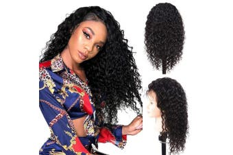 (60cm , Natural Color) - Water Wave Human Hair Wigs Water Wave Wigs Lace Front Wigs Glueless Wigs Human Hair Lace Front Wigs Human Hair with Baby Hair for Black Women Water Wave Lace Frontal Wigs(60cm , Natural Colour)