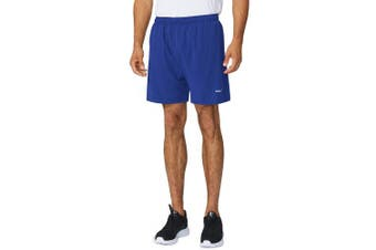 (XXX-Large, Royal Blue) - Baleaf Men's Woven 13cm Running Workout Shorts Zipper Pocket
