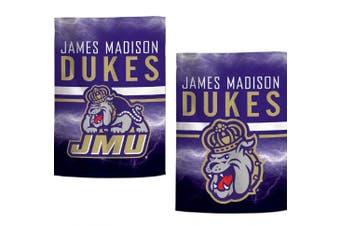 (James Madison JMU Dukes) - WinCraft NCAA Garden Flags 2 Sided 12. 13cm x 46cm