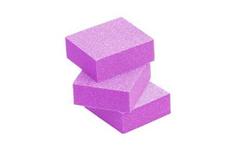 Tachibelle 150 pcs Premium Disposable Made in Korea Pink Mini Buffer Blocks Double-Sided 100/120 Grit