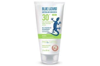(90ml) - Blue Lizard Australian Sunscreen - Kids Sunscreen, SPF 30+ Broad Spectrum UVA/UVB Protection - 90ml Tube