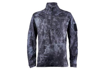 (XXX-Large, Typhon/Wolf Grey) - Kryptek Valhalla 2 LS Zip - Long Sleeve Camo Hunting Shirt (Valhalla Collection)