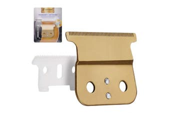 (gold blade) - Pro T outliner Ceramic Blade Hair Clipper/Trimmer Replacement Blades #04521-Designed for Andis Outliner Clipper (Gold)