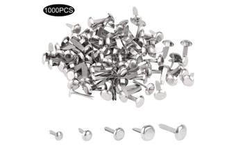 1000 Pcs Mini Brads with 5 Sizes Metal Brad Paper Fastener for Scrapbooking Craft DIY Making