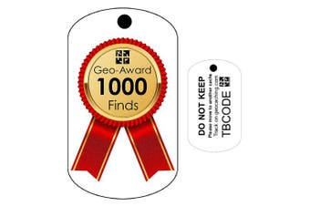 1000 Finds Geo-Award (Travel Bug) for Geocaching - Trackable Tag - Unactivated