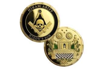 AtSKnSK Masonic Coin Grand Master Hiram Abiff Widow Son Master Mason Commemorative Gift