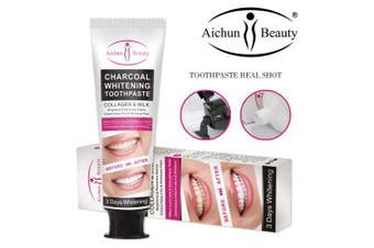 AICHUN BEAUTY Charcoal 3 DAY Whitening Toothpaste Collagen Removes Stains Removes Yellow Teeth 100ml