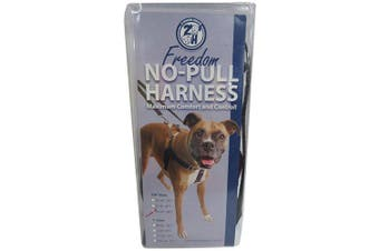 (Black) - 2 Hounds Design Freedom No-Pull No Leash Harness Only, 1.6cm , Medium