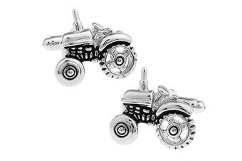 Ashton and Finch Tractor Cufflinks in a Free Luxury Presentation Box. Novelty Farming Transport Theme Jewellery