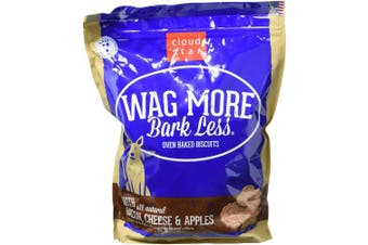 (Bacon, Cheese & Apple, 1.4kg.) - Cloud Star Wag More Bark Less Oven Baked, Crunchy Dog Treats, Limited Ingredients & Baked in the USA