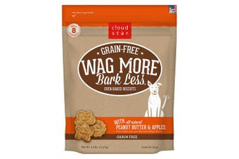 (PeanutButter & Apple, 1.1kg.) - Cloud Star Wag More Bark Less Grain Free Oven Baked Biscuits