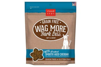 (Smooth Aged Cheddar, 150ml) - Cloud Star Wag More Bark Less Original Soft & Chewy Dog Treats, Corn & Soy Free, Baked in USA
