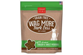 (Chicken & Sweet Potato, 150ml) - Cloud Star Wag More Bark Less Original Soft & Chewy Dog Treats, Corn & Soy Free, Baked in USA