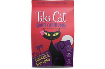 (Chicken & Fish, 2.5kg.) - Tiki Cat Born Carnivore Grain-Free, Low-Carbohydrate Dry Cat Food Baked with Fresh Meat