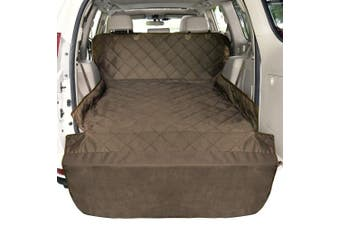 (Pet Cargo Liner, Brown) - F-colour SUV Cargo Liner for Dogs, Waterproof Pet Cargo Cover Dog Seat Cover Mat for SUVs Sedans Vans with Bumper Flap Protector, Non-Slip, Large Size Universal Fit