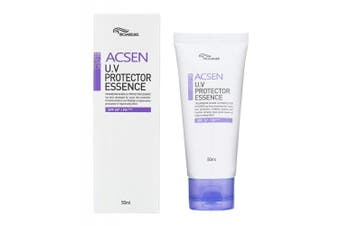 (50ml(1.69fl.oz.)) - [TROIAREUKE] ACSEN UV Protector Sun Essence 50ml (1.69fl.oz.) SPF 50+ PA+++ - Daily Facial Safe Sunblock Essence Sunscreen Lotion Oil Free for Sensitive Acne Skin Moisturiser