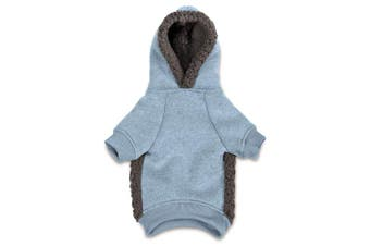 (X-Small, Blue) - Casual Canine Cosy Dog Hoodie