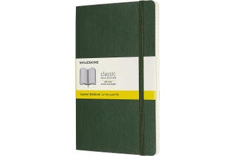 (Squared, Myrtle Green) - Moleskine Classic Notebook, Soft Cover, Large (13cm x 21cm ) Squared/Grid, Myrtle Green