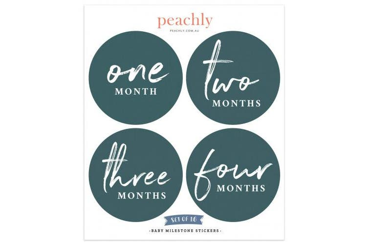 Peachly Baby Monthly Milestone Stickers (Set of 16) - Birth to 12 Months | 10cm …